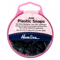 H443.BLAC KAM 25 x 12.4mm Black Plastic Snaps Poppers Fasteners