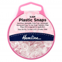 H443.CLEA KAM 25 x 12.4mm Clear Plastic Snaps Poppers Fasteners