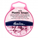 H443.PINK KAM 25 x 12.4mm Pink Plastic Snaps Poppers Fasteners