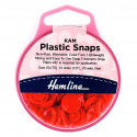 H443.RED KAM 25 x 12.4mm Red Plastic Snaps Poppers Fasteners