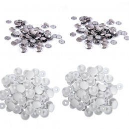 Hemline Self Cover Buttons: Plastic Top or Metal Top 11mm to 38mm