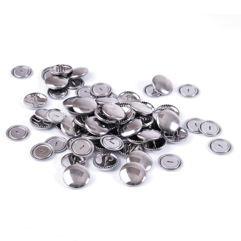 Hemline Self Cover Buttons: Metal Top 11mm to 38mm