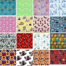 Huge Sale Branded Patchwork 100% Cotton Fabric 25 Designs Disney Marvel & More
