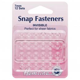 12 x 7mm Clear Plastic Snaps H422