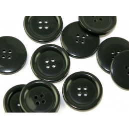 6 x Coat jacket 4 Hole Buttons 15mm to 38mm in 4 Colours Blazer Raincoat