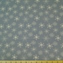 Icicle Winter Snowflake Natural On Grey