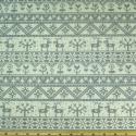 Reindeer Floral Lines Grey On Natural