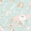 World Map Animals Duck Egg