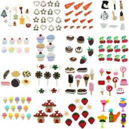 Dress It Up Novelty Button Collection Delicious Food Baking Craft Embellishments