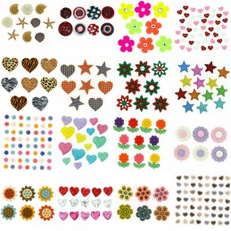 Dress It Up Novelty Button Collection Shapes & Flowers Craft Embellishments