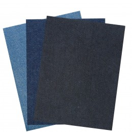 2 x Nortexx Denim Repair Mending Patch Iron On 3 Colours