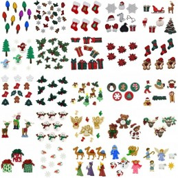 Dress It Up Novelty Button & Embellishments Collection Christmas Festive Craft