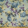Floral Flowers In Bloom Collection Poppies 100% Cotton Patchwork Fabric (Nutex)