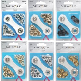 Millward 5.5mm, 8.7mm & 10.5mm Eyelets with Tool Starter Kit