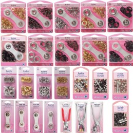 Hemline 5.5mm, 7mm, 8.7mm, 10.5mm & 14mm Eyelets with Tool Starter Kit