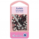 2. H435.B Eyelets with Tool: Black - 5.5mm - 40pcs