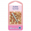 3. H435.G Eyelets with Tool: Gold - 5.5mm - 40pcs