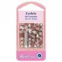 4. H435.N Eyelets with Tool: Nickel - 5.5mm - 40pcs