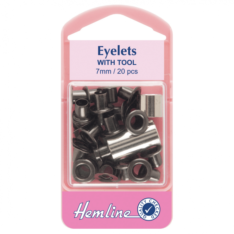 5. H437BLK Eyelets: Black - 7mm - 20pcs