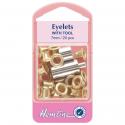 6. H437BRA Eyelets: Gold/Brass - 7mm - 20pcs