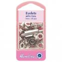 7. H437SIL Eyelets: Nickel - 7mm - 20pcs