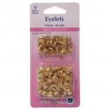 22. H438PR.5.G Eyelets Refill Pack: Gold/Brass - 5.5mm