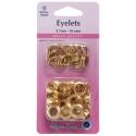 24. H438PR.8.G Eyelets Refill Pack: Gold/Brass - 8.7mm