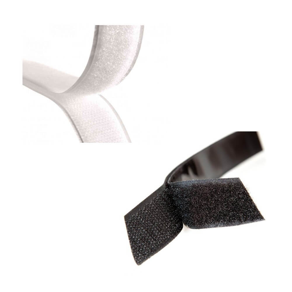 1m Milward 20mm or 50mm White Hook Or Loop Tape Sew On Or Stick On