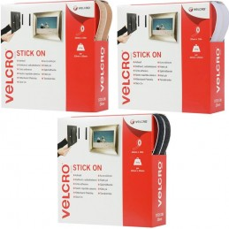 20mm Velcro Hook & Loop Tape Stick On White, Black,Ecru