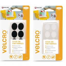VELCRO® Brand Stick On Self Adhesive 24mm Oval Spots For Fabric