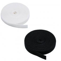 20mm or 25mm Self Adhesive Black or White Hook and Loop Tape