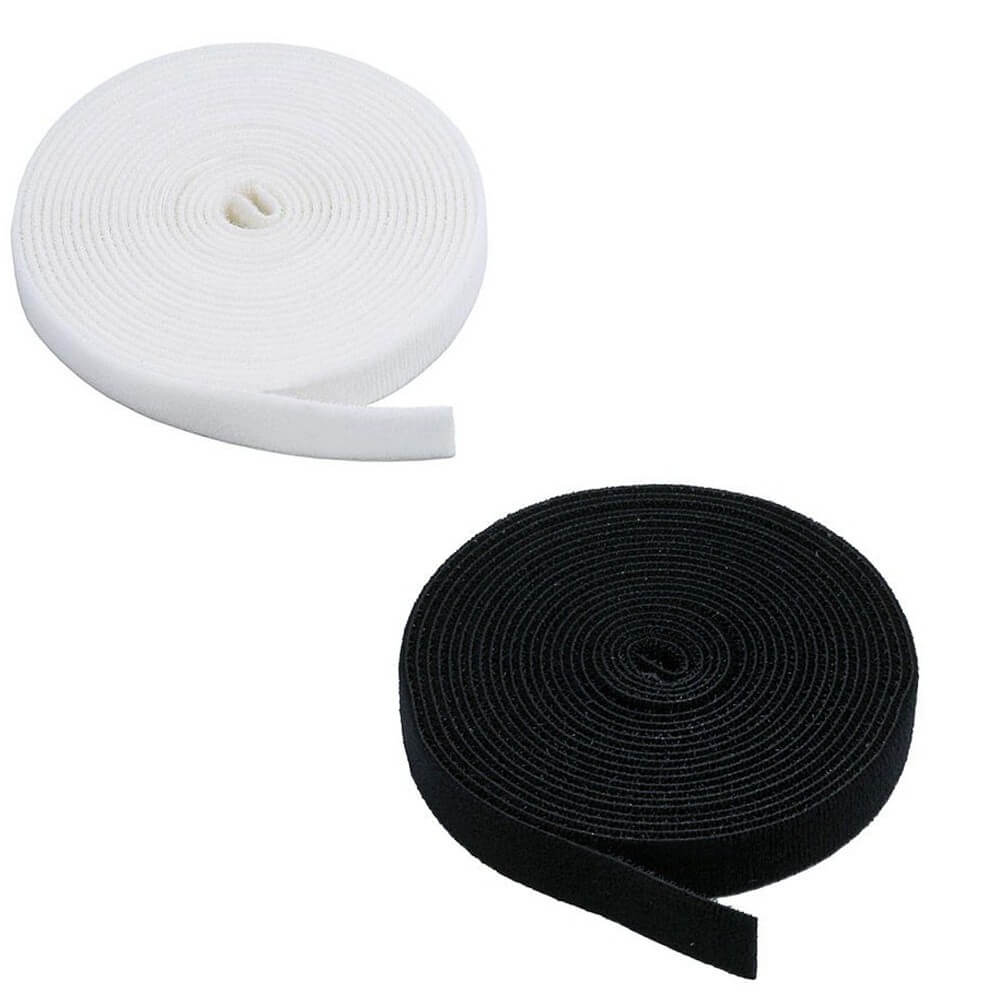 20mm or 25mm Self Adhesive White Hook and Loop Tape