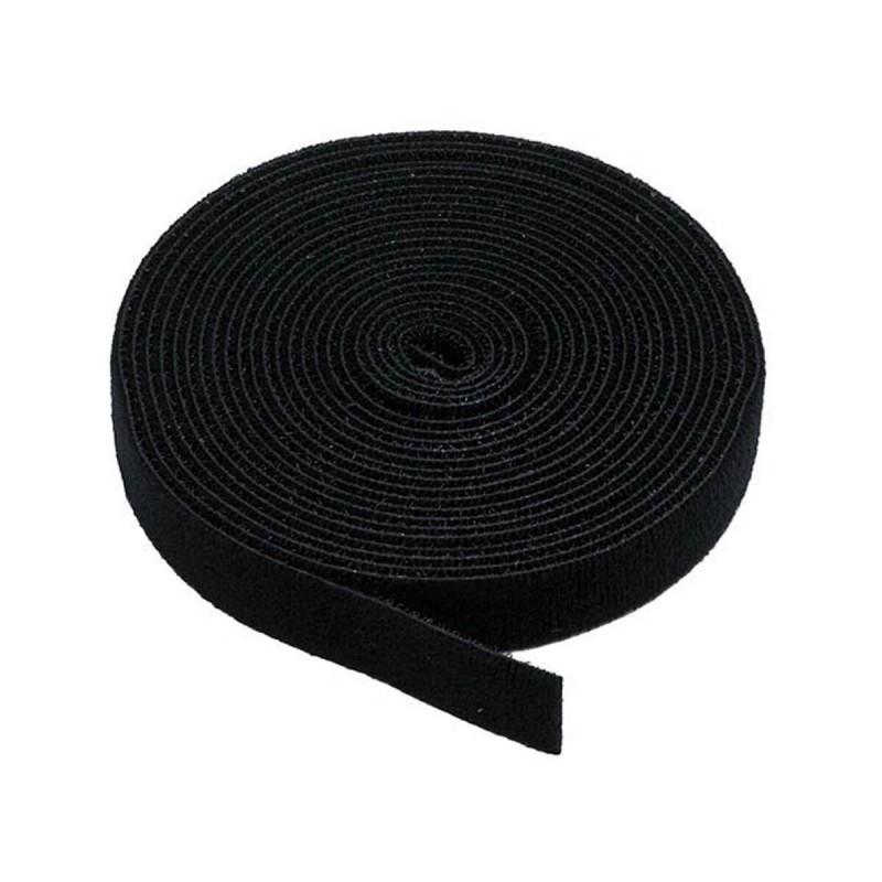 20mm or 25mm Self Adhesive Black Hook and Loop Tape
