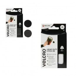 VELCRO® Brand 6 x 24mm Heavy Duty Hook & Loop Coins Circles Stick On