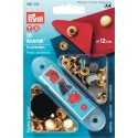 13. 390332 - Press Fasteners 12mm Anorak Gold-Coloured 10 Piece Card