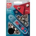 14. 390330 - Press Fasteners 12mm Anorak Nickel 10 Piece Card