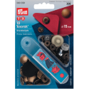 15. 390299 - Press Fasteners 15mm Anorak Antique Brass 10 Piece Card