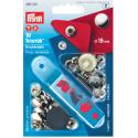 18. 390301 - Press Fasteners 15mm Anorak Nickel 10 Piece Card