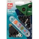 19. 390502 - Press Fasteners 13mm Sport Mini Black Oxidized 10 Piece Card