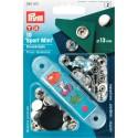 20. 390501 - Press Fasteners 13mm Sport Mini Nickel 10 Piece Card