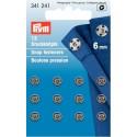 25. 341241 - Snap Fasteners 6mm Nickel 12 Piece Card