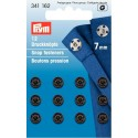 26. 341162 - Snap Fasteners 7mm Black 12 Piece Card