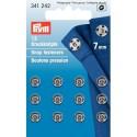 27. 341242 - Snap Fasteners 7mm Nickel 12 Piece Card