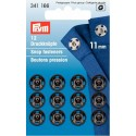 32. 341166 - Snap Fasteners 11mm Black 12 Piece Card