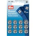 33. 341246 Snap Fasteners 11mm Nickel 12 Piece Card