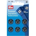 34. 341168 - Snap Fasteners 13mm Black 6 Piece Card