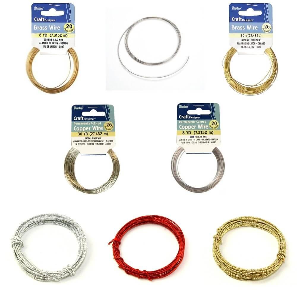 Darice Craft & Jewellery Designer Wire Glitter Copper Brass & Memor...
