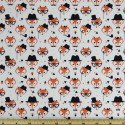 Ivory 100% Cotton Poplin Fabric Rose & Hubble Fancy Little Fox Faces Foxes