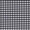 "Polycotton Fabric 1/4"" Gingham Black"