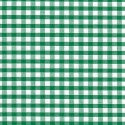 "Polycotton Fabric 1/4"" Gingham Emerald Green"